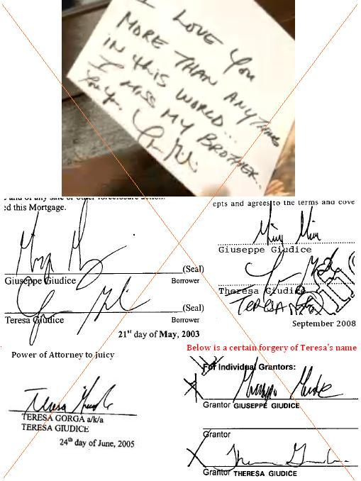 Teresa's signature in different forms 2