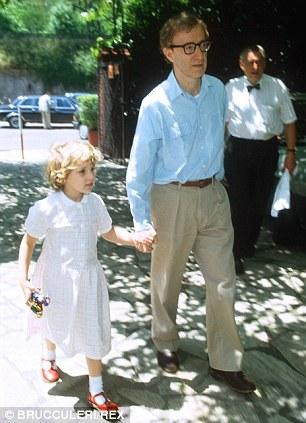 Dylan with Woody in Italy in 1991