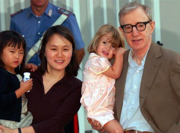 Woody, Soon-Yi and their adopted daughters, Bechet and Manzie Tio