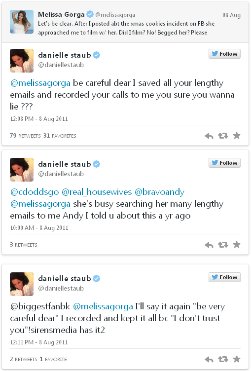 danielle and melissa tweets