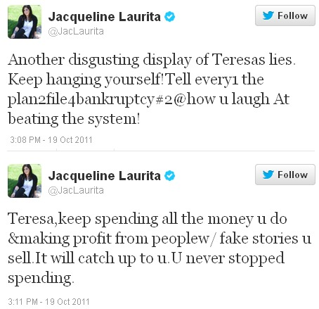 Jac's tweet about Tre planning to file for bankruptcy again
