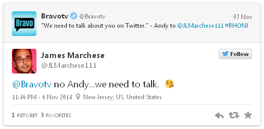 andy's tweet to jim