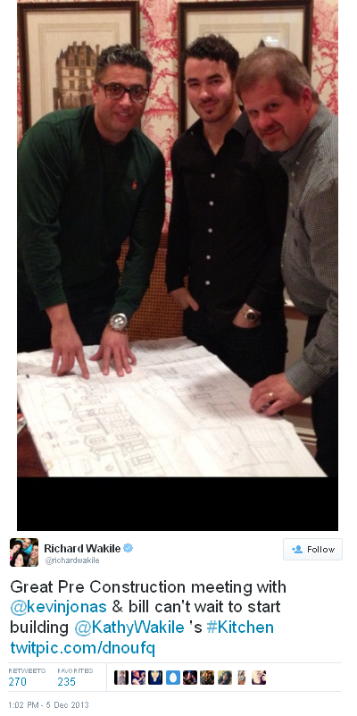 Wakile's pre construction meeting with Kevin Jonas